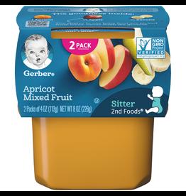 Gerber Gerber 2nd Foods Apricot Mixed Fruit, 8 oz, 8 ct