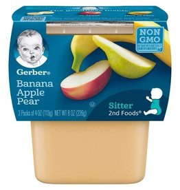 Gerber Gerber 2nd Foods Banana Apple Pear, 8 oz, 8 ct