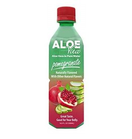 AloeVita AloeVita Pomegranate Aloe Vera Pure Water, 16.9 oz, 24 ct