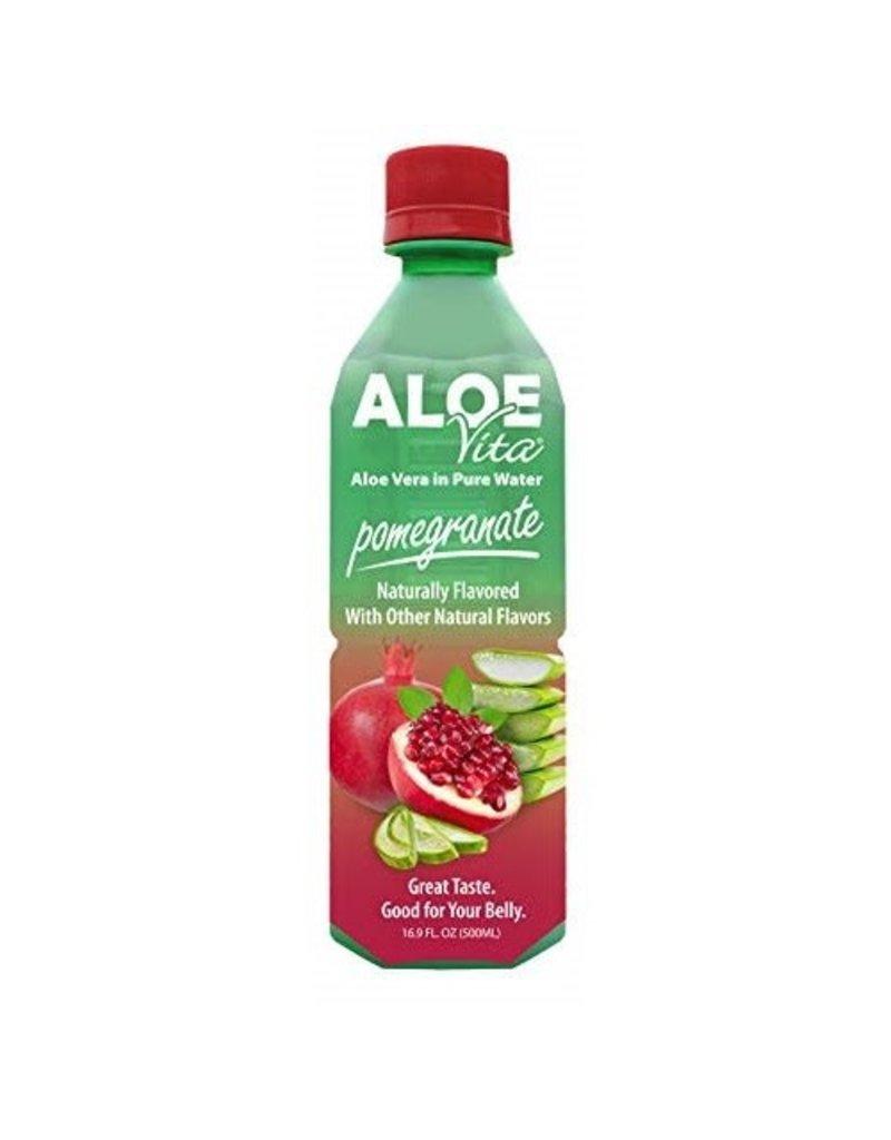 AloeVita AloeVita Pomegranate Aloe Vera Pure Water, 16.9 oz, 24 ct