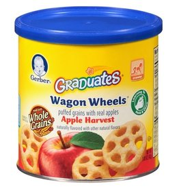 Gerber Gerber Apple Wagon Wheels, 1.48 oz, 6 ct