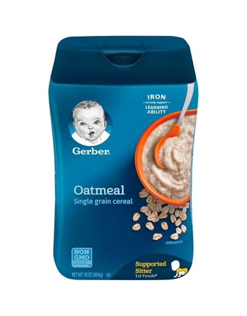 Gerber Gerber Single Grain Oatmeal Baby Cereal, 16 oz, 6 ct