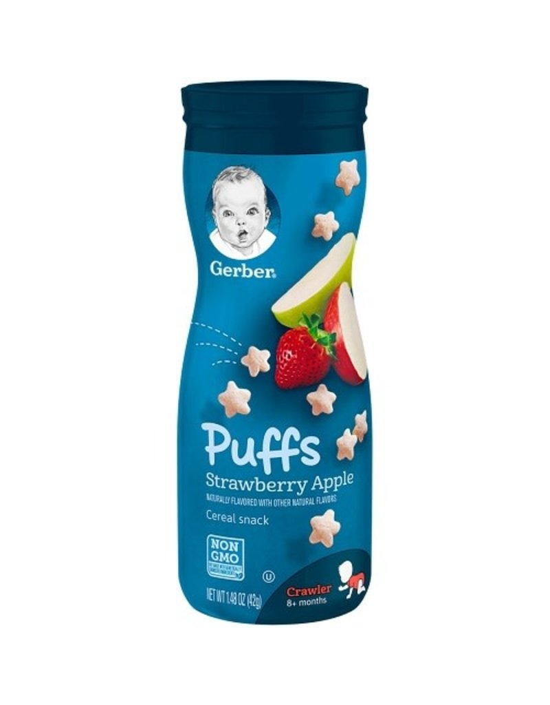 Gerber Gerber Puffs Strawberry Apple, 1.48 oz, 6 ct
