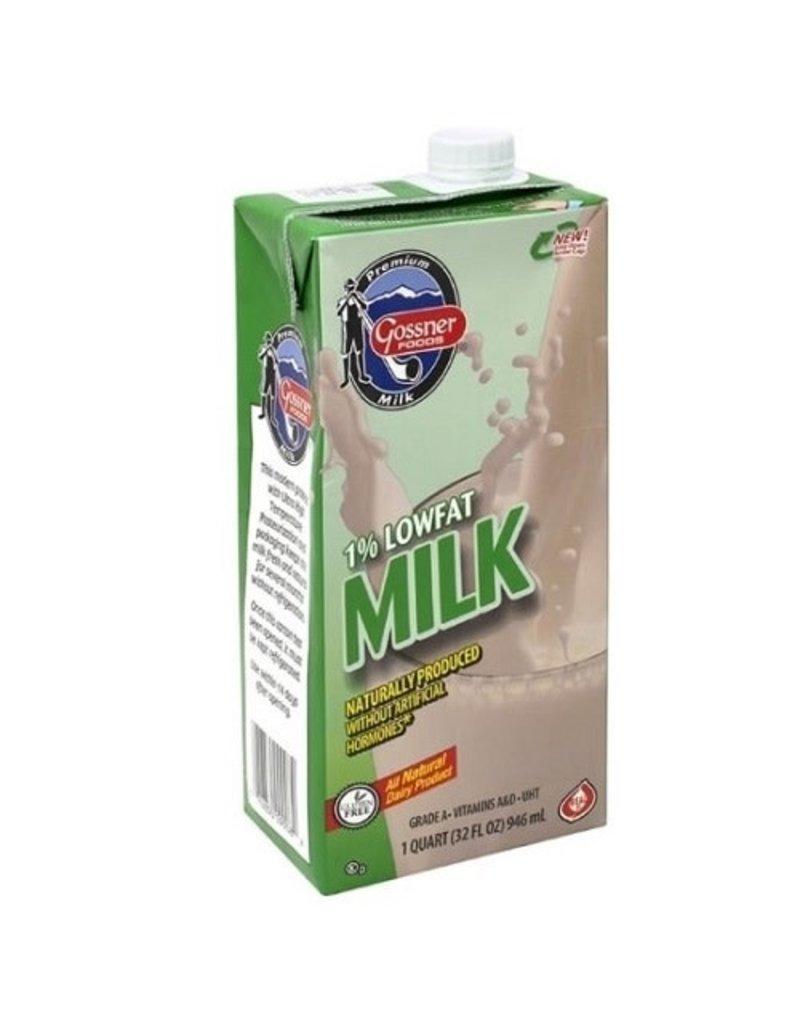 Gossner Gossner Shelf Stable Milk 1%, 32 oz