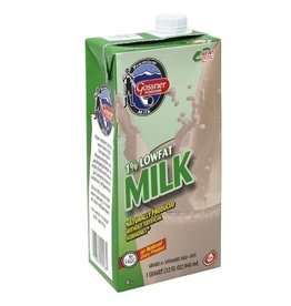 Gossner Gossner Shelf Stable 1% Milk, 32 oz, 12 ct