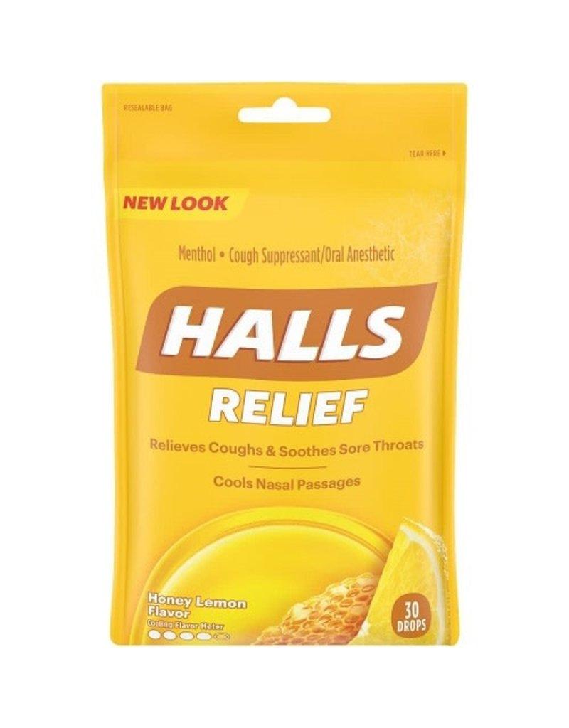 Halls Halls Honey Lemon Bags, 30 ea, 12 ct