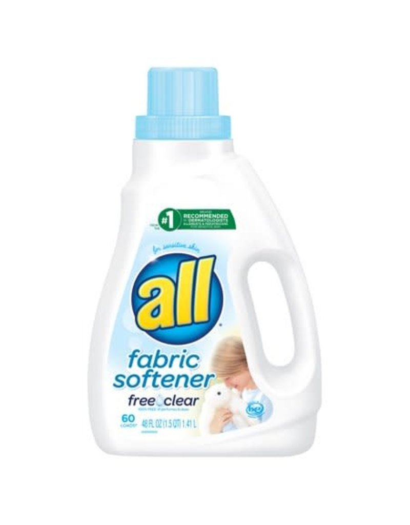 all all Free Clear Fabric Softener, 48 oz, 6 ct