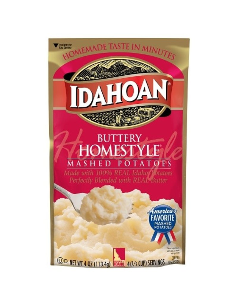 Idahoan Idahoan Instant Mashed Potatoes Buttery Homestyle, 4 oz, 12 ct