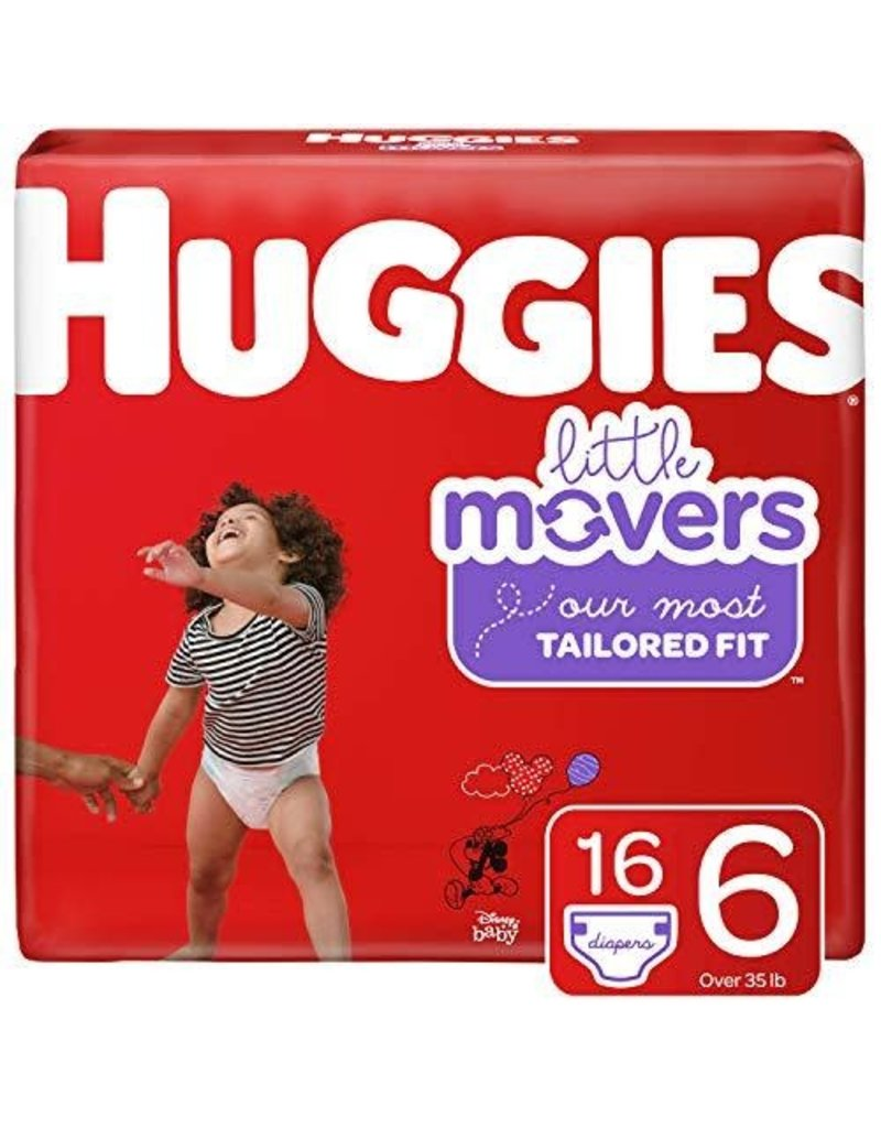 Huggies Huggies Lil' Movers Size 6 Diapers, 16 ct (Pack of 4)