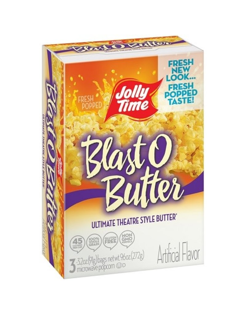 Jolly Time Jolly Time Blast O Butter Microwave Popcorn, 10.5 oz, 12 ct