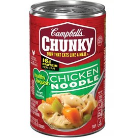 Campbell's Campbell's Chunky Chicken Noodle Healthy Request, 18.6 oz, 12 ct