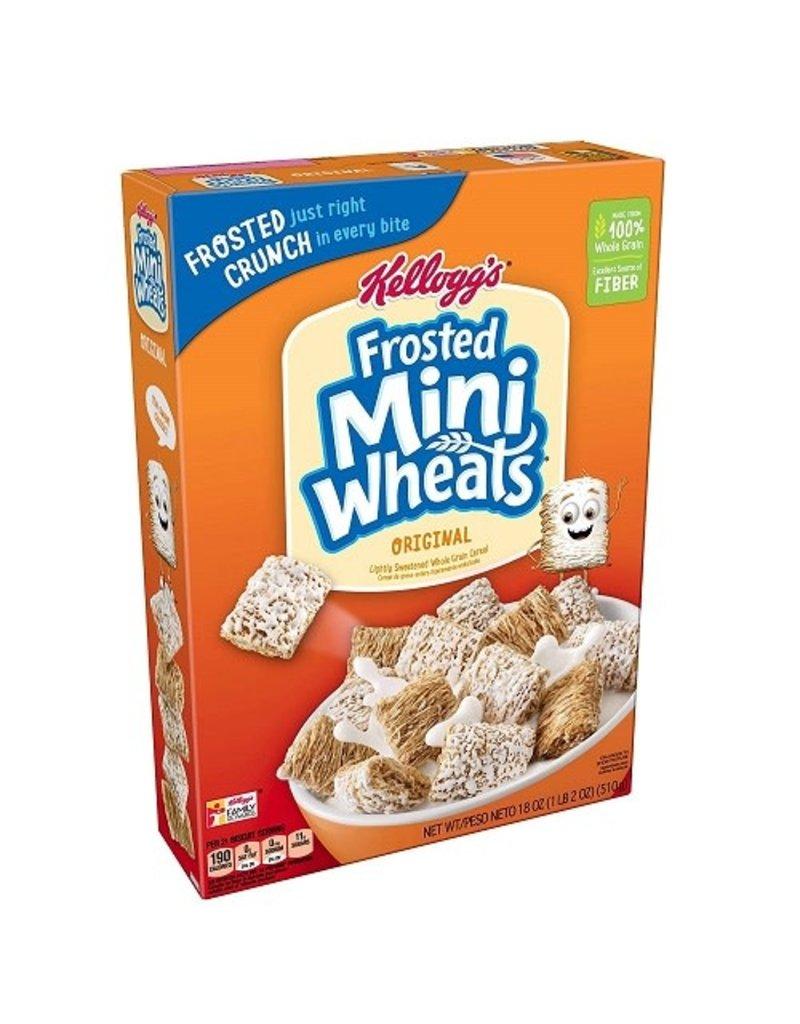 Kellogg's Kelloggs Frosted Mini Wheats, 18 oz, 16 ct