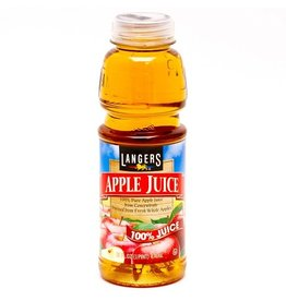 Langers Langers Apple Juice, 16 oz, 12 ct