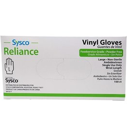 Sysco Latex Large Powder free Gloves, 100 ct (Pack of 10)