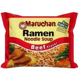 Maruchan Maruchan Beef Ramen Noodle Soup Dry, 3 oz, 24 ct