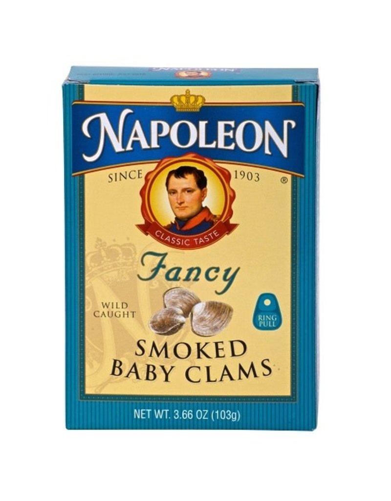 Napoleon Napoleon Clams Baby Smoked, 3.75 oz, 5 ct