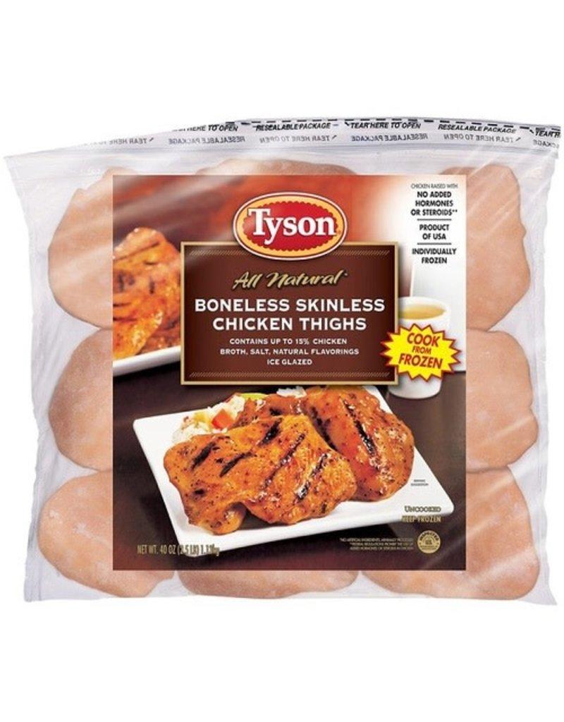 Tyson Foods Tyson Boneless/Skinless Chicken Thighs, 2.5 lb, 12 ct