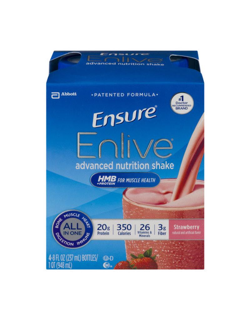 Ensure Ensure Enlive Strawberry Shake, 8 oz, 16 ct