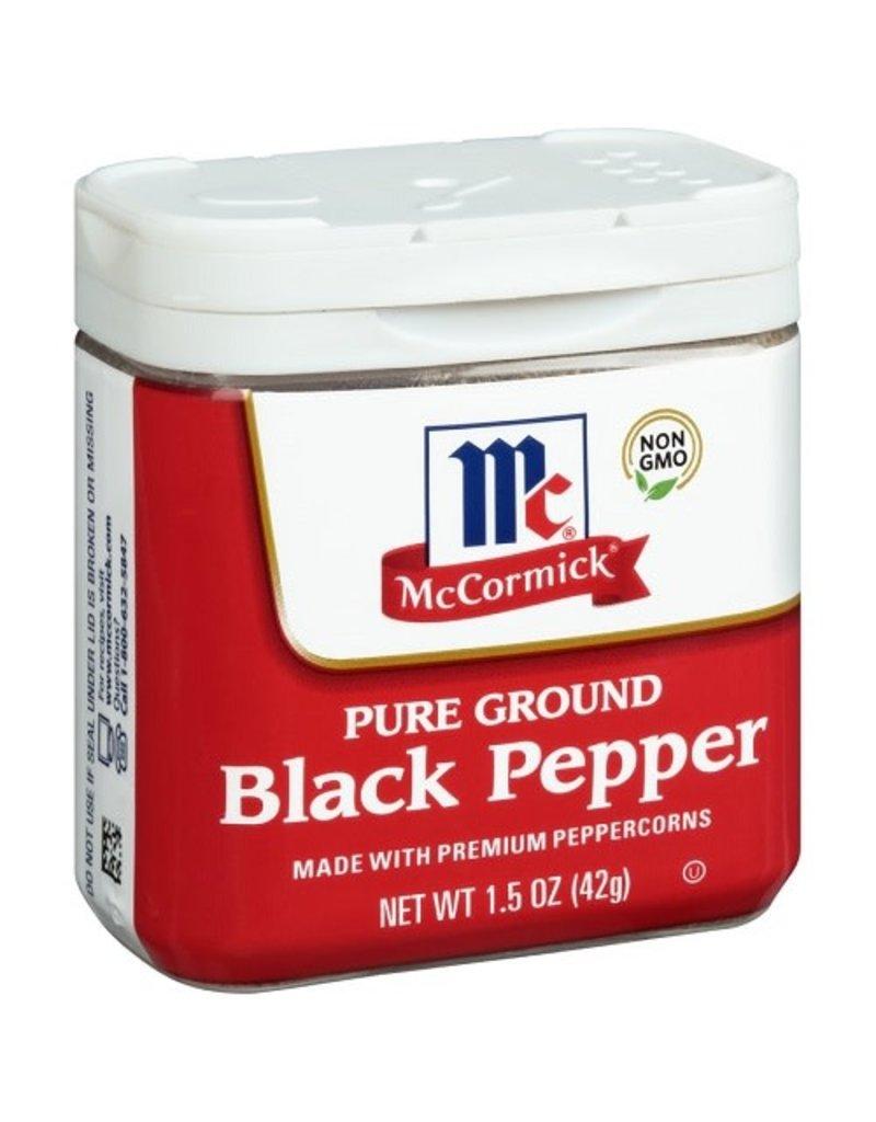 Mccormick McCormick Ground Black Pepper, 1.5 oz, 12 ct