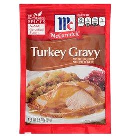Mccormick McCormick Turkey Gravy Mix, 0.87 oz, 24 ct