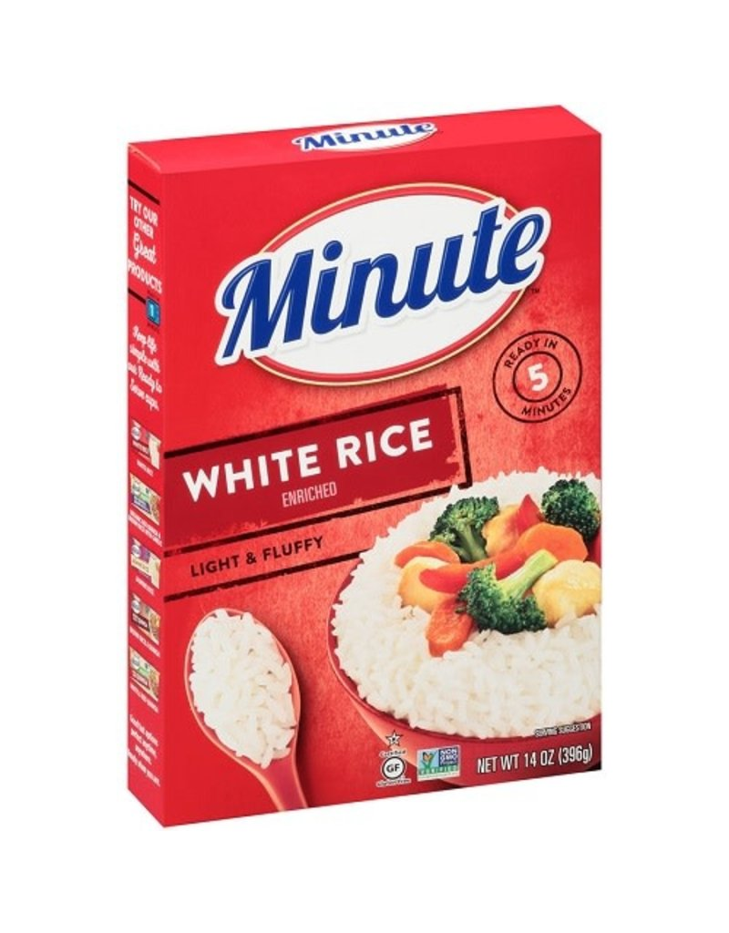 Minute Rice Minute White Long Grain Instant Rice, 14 oz, 12 ct
