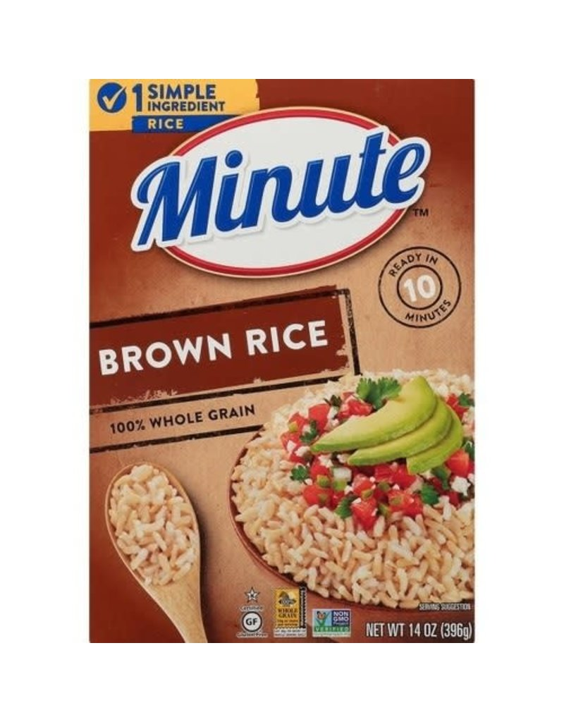 Minute Rice Minute Rice Brown, 14 oz, 12 ct