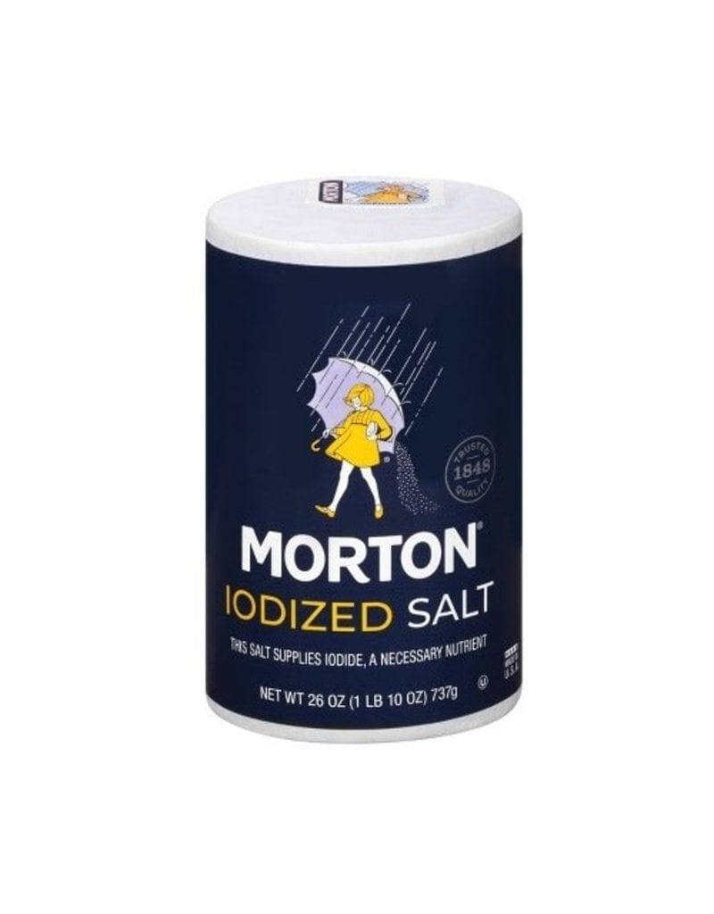 Morton Morton Iodized Salt, 26 oz, 24 ct