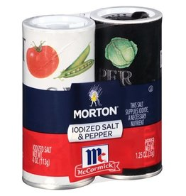 Morton Morton Salt And Pepper, 5.25 oz, 12 ct
