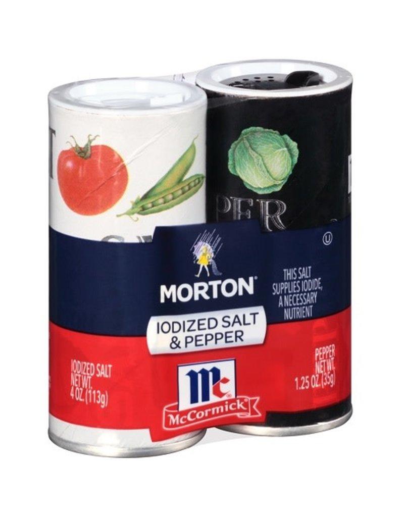 Morton Morton Salt And Pepper, 5.25 oz, 12 ct