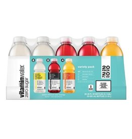 Vitaminwater Vitamin Water Zero Sugar Variety Pack, 20 oz, 20 ct