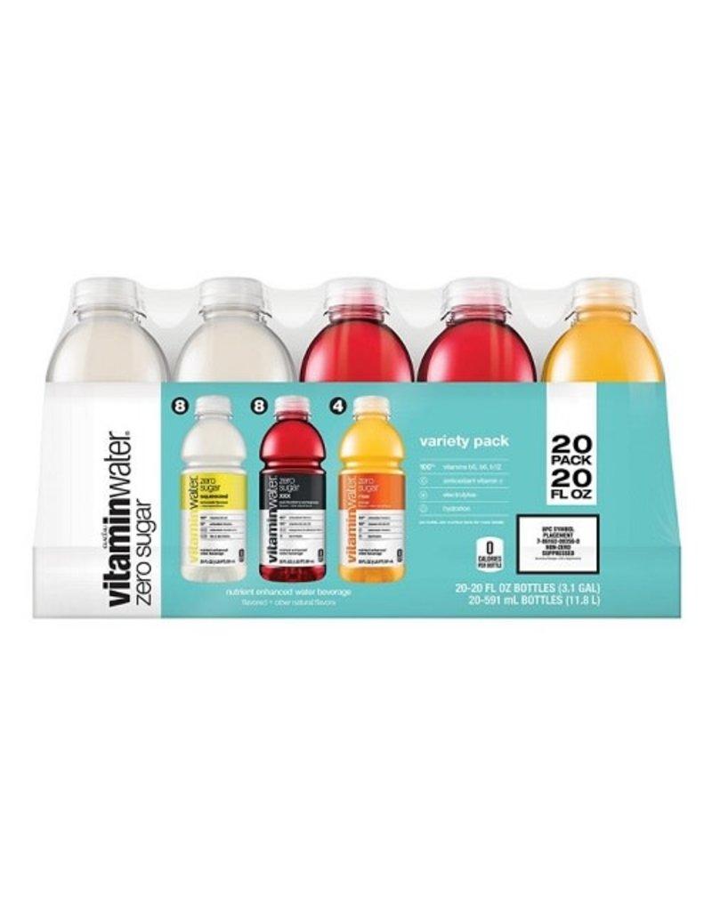 Vitaminwater Vitamin Water Zero Sugar Variety Pack, 20 oz, 20 ct