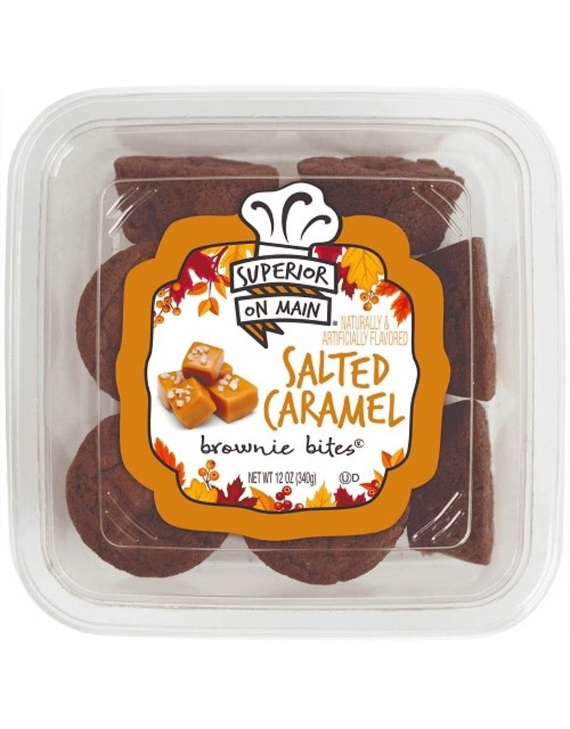 Superior On Main Superior On Main Salted Caramel Brownie Bites, 12 oz, 18 ct
