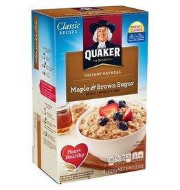Quaker Quaker Maple Brown Sugar Instant Oatmeal, 15.1 oz, 12 ct