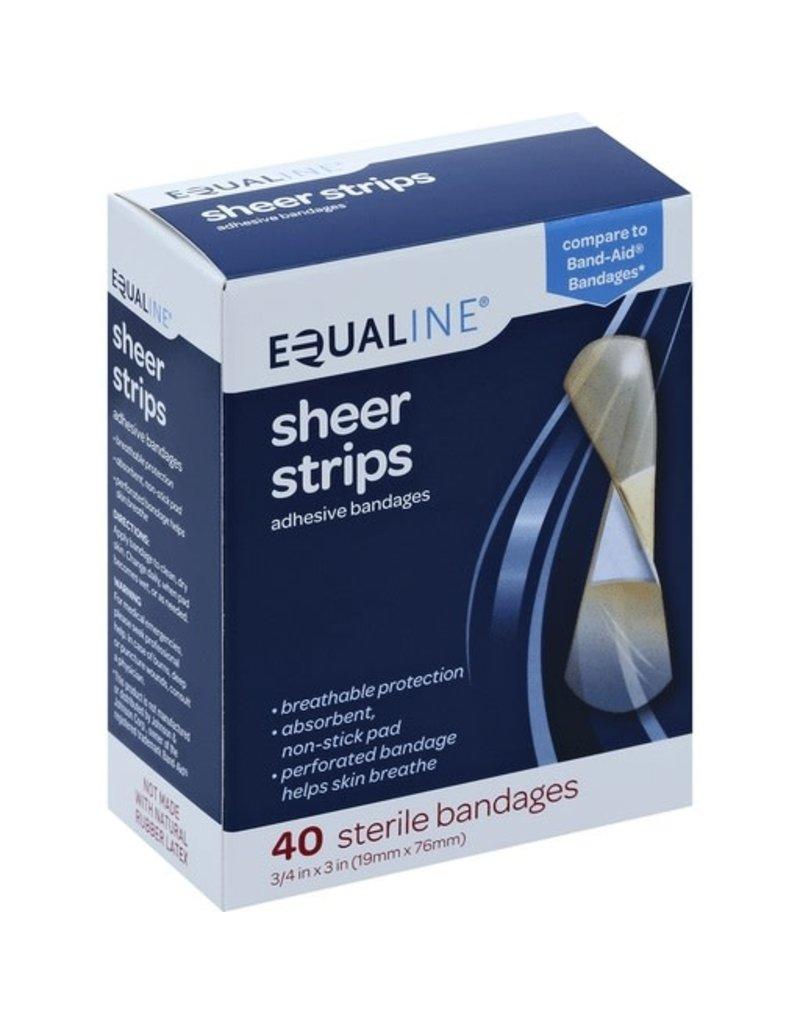Equaline Equaline Sheer Strips Adhesive Bandages, 40 ct