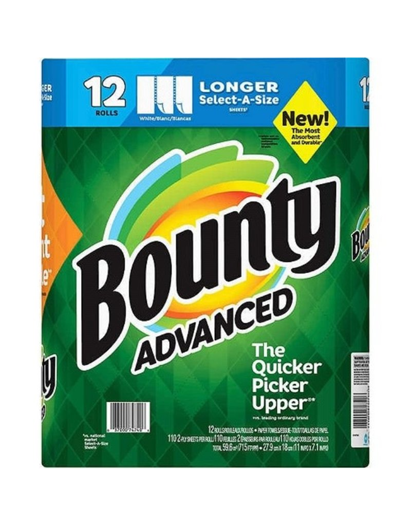 Bounty Bounty Paper Towels White Select-A-Size Advanced, 1 ct (Pack of 12)