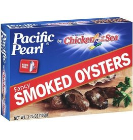 Pacific Pearl Pacific Pearl Smoked Oysters, 3.75 oz, 24 ct