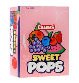Tootsie Roll Charms Sweet Pops, 48 ct
