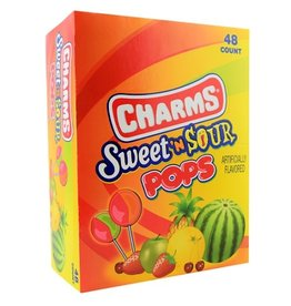 Tootsie Roll Charms Sweet & Sour Pops, 48 ct