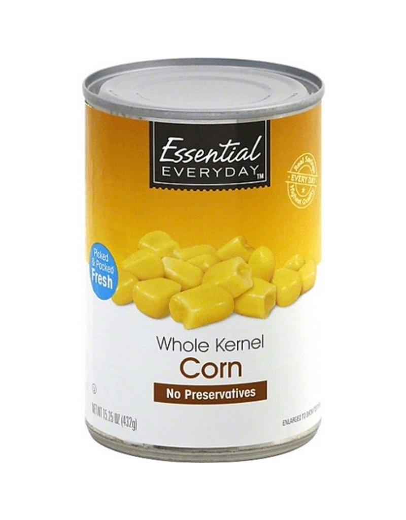 Essential Everyday EED Canned Whole Kernel Corn, 15.25 oz, 24 ct