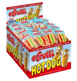 E Frutti E Frutti Gummi Hot Dog, 60 ct