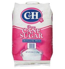 C&H C&H Pure Cane Sugar, Granulated White, 25 LB