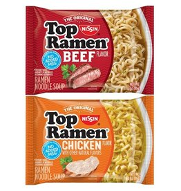 Top Ramen Top Ramen Beef/Chicken Pack, 3 oz, 48 ct