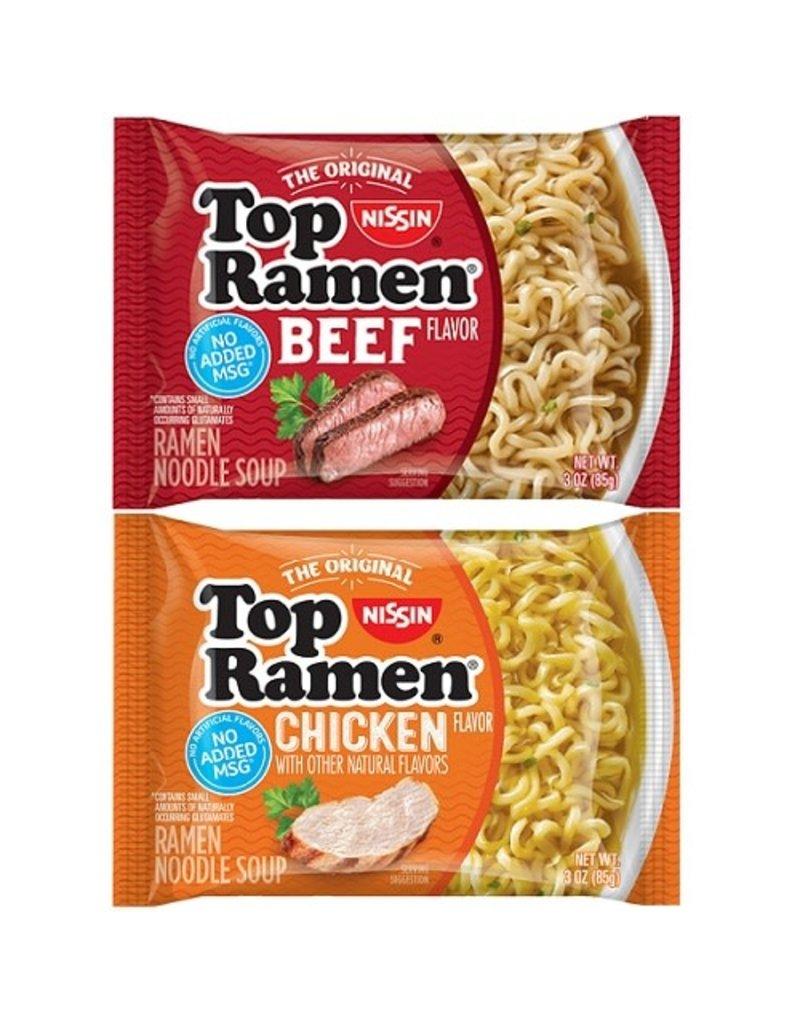 Top Ramen Top Ramen Beef/Chicken Pack, 3 oz, 48 ct