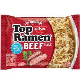 Top Ramen Nissin Top Ramen Beef, 3 oz, 24 ct