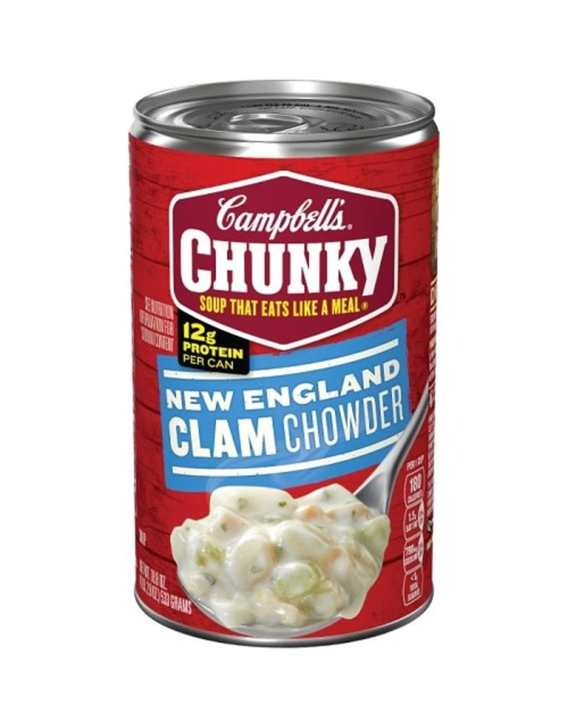 Campbell's Campbells Soup Chunky New England Clam Chowder, 18.8 oz, 12 ct