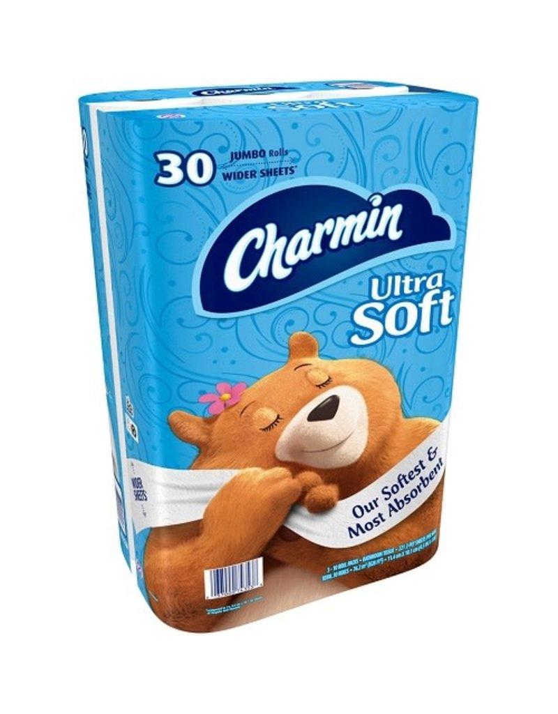 Charmin Charmin Ultra Soft Jumbo Roll Blue, 30 ct