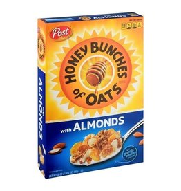 Post Post Honey Bunches of Oats with Almonds, 18 oz, 12 ct