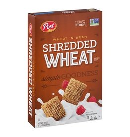 Post Post Shredded Wheat, Wheat 'N Bran, 18 oz