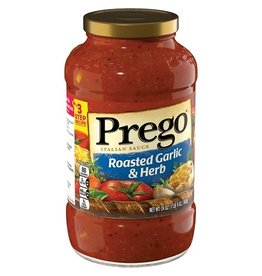 Prego Prego Roasted Garlic Herb Pasta Sauce, 24 oz, 12 ct