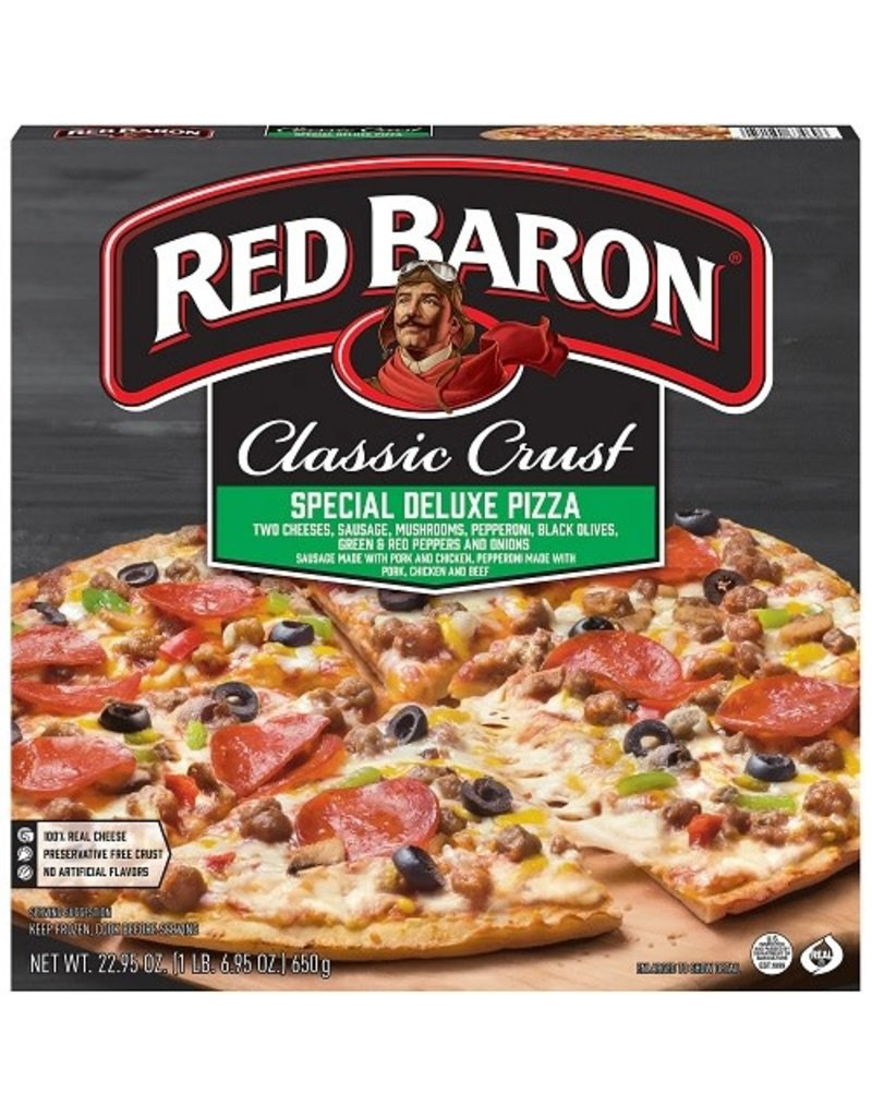 Red Baron Red Baron 12'' Special Deluxe Pizza, 22.1 oz, 16 ct